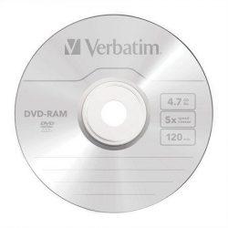 DVD-RAM, egyoldalas, Type II, 4,7GB, 3x, VERBATIM (DVDVRAM2)
