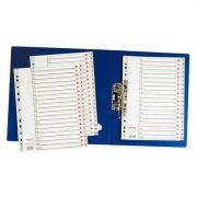Regiszter, műanyag, A4, A-Z, ESSELTE, szürke (E100112)
