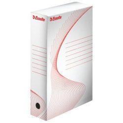 """Archiváló doboz, A4, 80 mm, karton, ESSELTE """"Standard"""", fehér"""