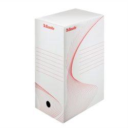 """Archiváló doboz, A4, 150 mm, karton, ESSELTE """"Standard"""", fehér"""