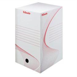 """Archiváló doboz, A4, 200 mm, karton, ESSELTE """"Standard"""", fehér"""