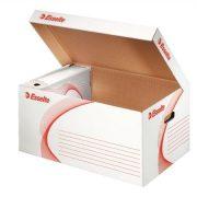 """Archiváló konténer, karton, felfelé nyíló, ESSELTE """"Standard"""", fehér (E128900)"""