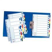 Regiszter, műanyag, A4, 6 részes, ESSELTE (E15260)