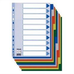 Regiszter, műanyag, A4, 10 részes, ESSELTE (E15261)