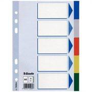 Regiszter, műanyag, A5, 5 részes, ESSELTE, színes (E15264)