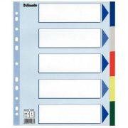 Regiszter, műanyag, A4 Maxi, 5 részes, ESSELTE (E15266)