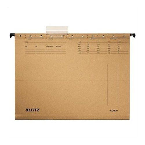 """Függőmappa, karton, A4, LEITZ """"Alpha"""", natúr (E19150000), 25db"""