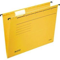 """Függőmappa, karton, A4, LEITZ, """"Alpha Standard"""", sárga (E19850015), 25db"""
