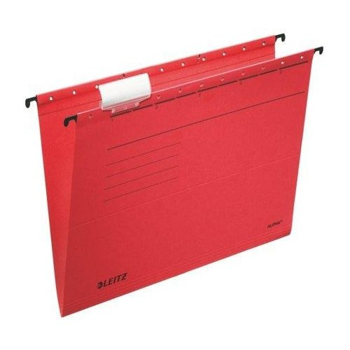 "Függőmappa, karton, A4, LEITZ, ""Alpha Standard"", piros (E19850025), 25db"