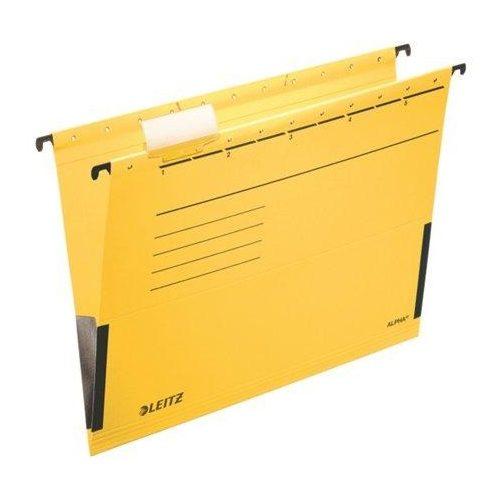 """Függőmappa, oldalvédelemmel, karton, A4, LEITZ """"Alpha"""", sárga (E19860015), 25db"""