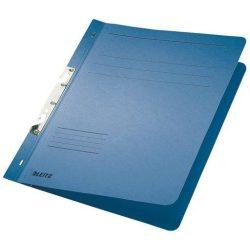 Gyorsfűző, karton, fémszerkezettel, A4, LEITZ, kék (E37460035), 50db