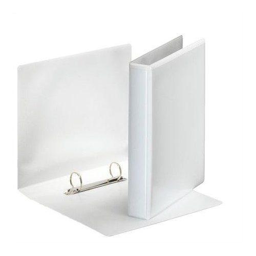 Gyűrűs dosszié, panorámás, 2 gyűrű, D alakú, 46 mm, A5, PP/PP, ESSELTE, fehér (E46571)