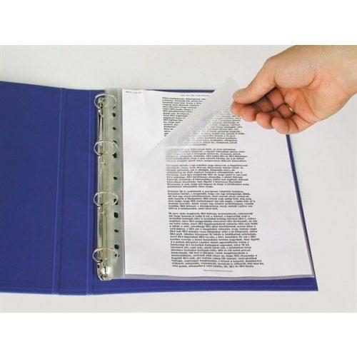 Genotherm, felül és a belső oldalon nyitott, lefűzhető, A4, 115 mikron, narancsos felület, ESTELLE