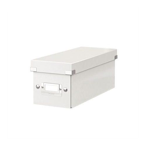"""CD tároló doboz, lakkfényű, LEITZ """"Click&Store"""", fehér"""