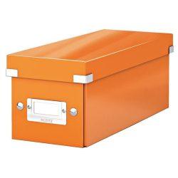 """CD tároló doboz, lakkfényű, LEITZ """"Click&Store"""", narancs"""