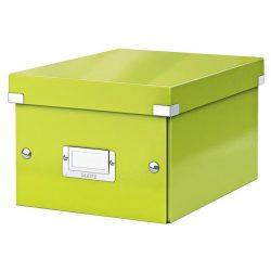 """Irattároló doboz, A5, lakkfényű, LEITZ """"Click&Store"""", zöld"""