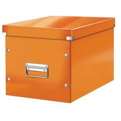 """Tároló doboz, lakkfényű, L méret, LEITZ """"Click&Store"""", narancs"""