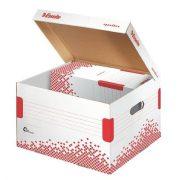 """Archiváló konténer, M méret, újrahasznosított karton, ESSELTE """"Speedbox"""", fehér (E623912)"""