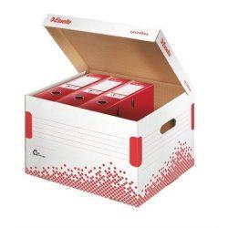 """Archiváló konténer, újrahasznosított karton, felfelé nyíló, ESSELTE """"Speedbox"""", fehér (E623914)"""