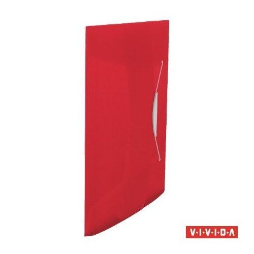 "Gumis mappa, 15 mm, PP, A4, ESSELTE ""Vivida"", piros"