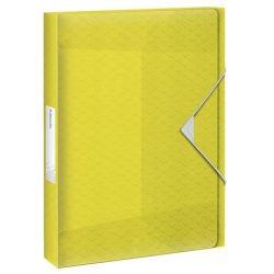 "Gumis mappa, 40 mm, PP, A4, ESSELTE ""Colour'Ice"", sárga"