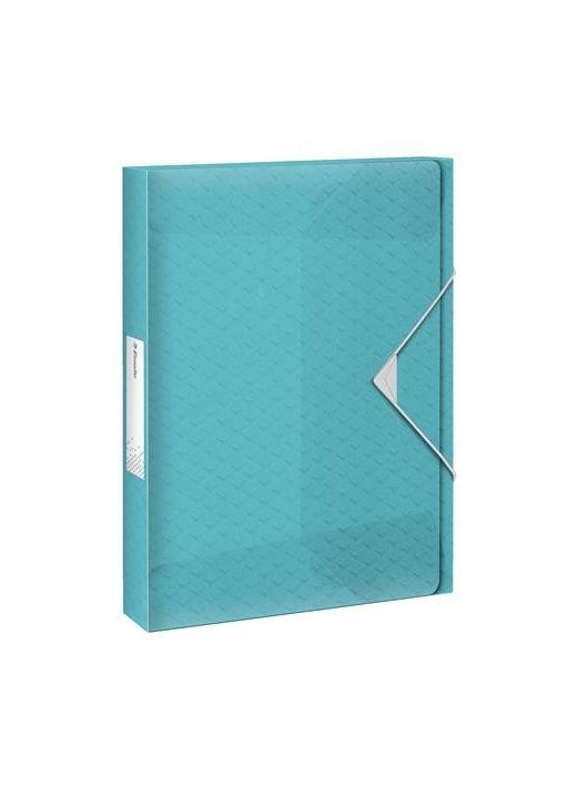 "Gumis mappa, 40 mm, PP, A4, ESSELTE ""Colour'Ice"", kék"
