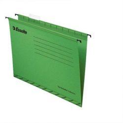 """Függőmappa, újrahasznosított karton, A4, ESSELTE """"Pendaflex Standard"""", zöld (E90318), 25db"""