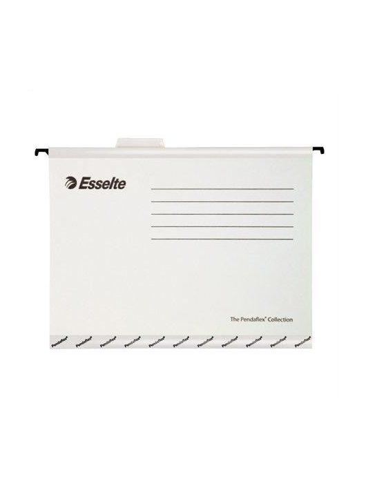 """Függőmappa, újrahasznosított karton, A4, ESSELTE """"Pendaflex Standard"""", fehér (E90319), 25db"""