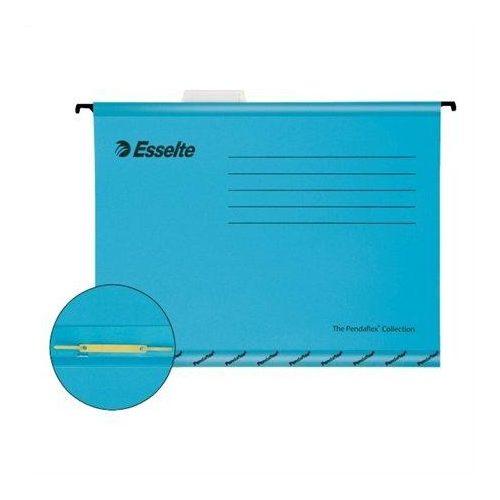 """Függőmappa, gyorsfűzős, újrahasznosított, karton, A4, , ESSELTE """"Pendaflex"""", kék (E93130), 10db"""