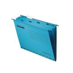 """Függőmappa, újrahasznosított karton, A4, elválasztólapokkal, ESSELTE """"Pendaflex"""", kék (E93133), 10db"""
