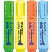 """Szövegkiemelő, 4,0 mm, FLEXOFFICE """"HL05"""", 4 különböző szín"""