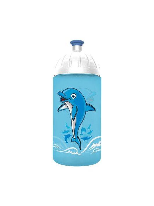 """Kulacs, higiénikus műanyagból, 0,5L, FREEWATER """"Delfin"""", türkiz"""