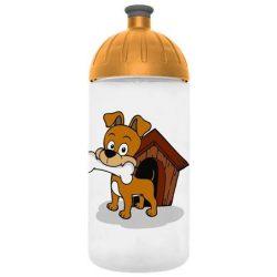 """Kulacs, higiénikus műanyagból, 0,5L, FREEWATER """"Kutyus"""", átlátszó"""