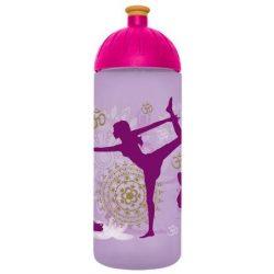 "Kulacs, higiénikus műanyagból, 0,7L, FREEWATER ""Jóga"", lila"