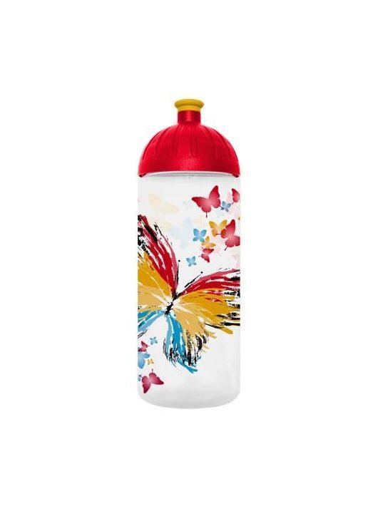 """Kulacs, higiénikus műanyagból, 0,7L, FREEWATER """"Pillangó"""", átlátszó"""