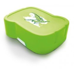 """Uzsonnás doboz, higiénikus műanyagból, FREEWATER """"Sárkány"""", zöld"""