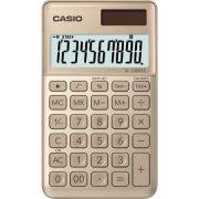 """Számológép, asztali, 10 számjegy, CASIO """"SL 1000"""" arany"""