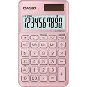 """Számológép, asztali, 10 számjegy, CASIO """"SL 1000"""", világos rózsaszín"""