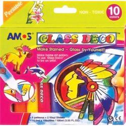 Üvegfóliafesték készlet, 10 különböző szín (HPR151)