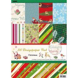 Mintás kartonpapír csomag, A4, karácsony
