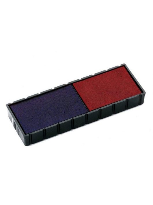 """Bélyegző cserepárna, 2 db/bliszter, kétszínű változat, COLOP """"E12/2"""", kék-piros (IC1113822)"""