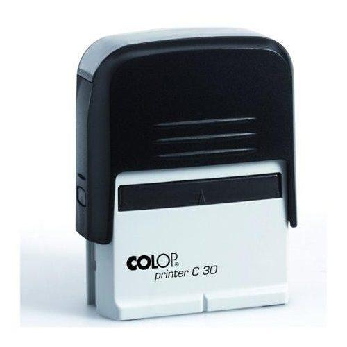 """Bélyegző, COLOP """"Printer C 30"""", kék cserepárnával (IC1373060)"""