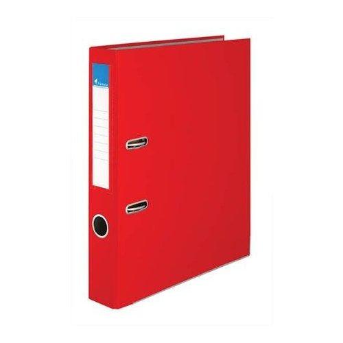"""Iratrendező, 50 mm, A4, PP/karton, élvédő sínnel, VICTORIA, """"Basic"""", piros (IDI50P)"""