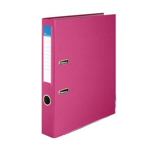 """Iratrendező, 50 mm, A4, PP/karton, élvédő sínnel, VICTORIA, """"Basic"""", rózsaszín (IDI50R)"""