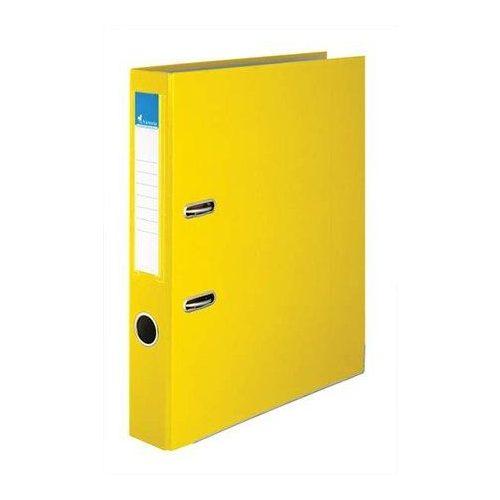"""Iratrendező, 50 mm, A4, PP/karton, élvédő sínnel, VICTORIA, """"Basic"""", sárga (IDI50S)"""