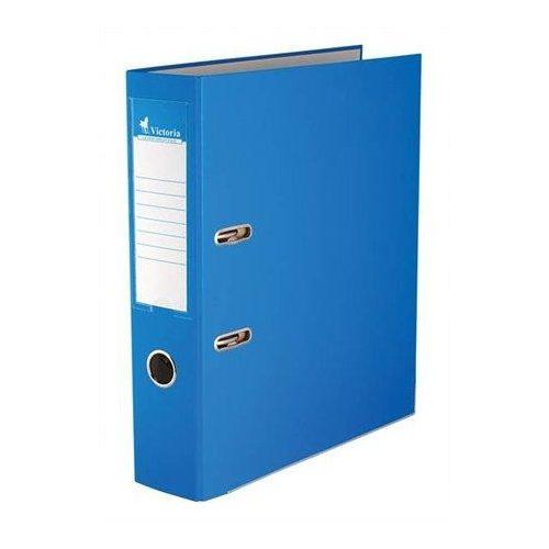 """Iratrendező, 75 mm, A4, PP/karton, élvédő sínnel, VICTORIA, """"Basic"""", kék (IDI75K)"""