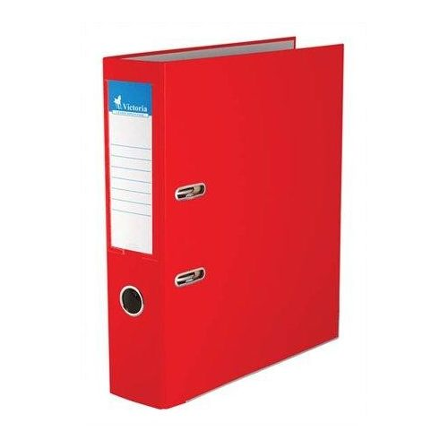 """Iratrendező, 75 mm, A4, PP/karton, élvédő sínnel, VICTORIA, """"Basic"""", piros (IDI75P)"""
