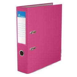 """Iratrendező, 75 mm, A4, PP/karton, élvédő sínnel, VICTORIA, """"Basic"""", rózsaszín (IDI75R)"""