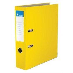 """Iratrendező, 75 mm, A4, PP/karton, élvédő sínnel, VICTORIA, """"Basic"""", sárga (IDI75S)"""