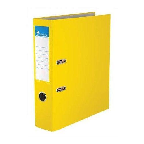 "Iratrendező, 75 mm, A4, PP/karton, VICTORIA, ""Basic"", sárga (IDI75SN)"